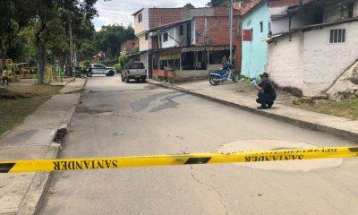 Una muerte por bala perdida se presentó en el barrio San Pedro de Bucaramanga.