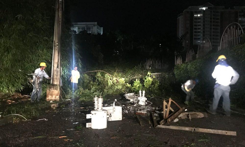 Daños en Floridablanca por fuertes lluvias