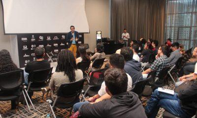 Alejandro Ramírez Rojas, abrió el conversatorio 'Música para el lenguaje cinematográfico y televisivo, y sus diferencias'. - Oro Visión