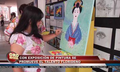 Con exposición de pintura se promueve el talento florideño.