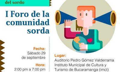 Se cumplirá el I Foro de la comunidad sorda en Bucaramanga