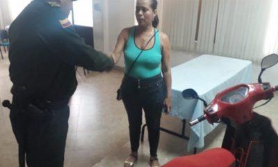 Policía recuperan una motocicleta hurtada en Barrancabermeja