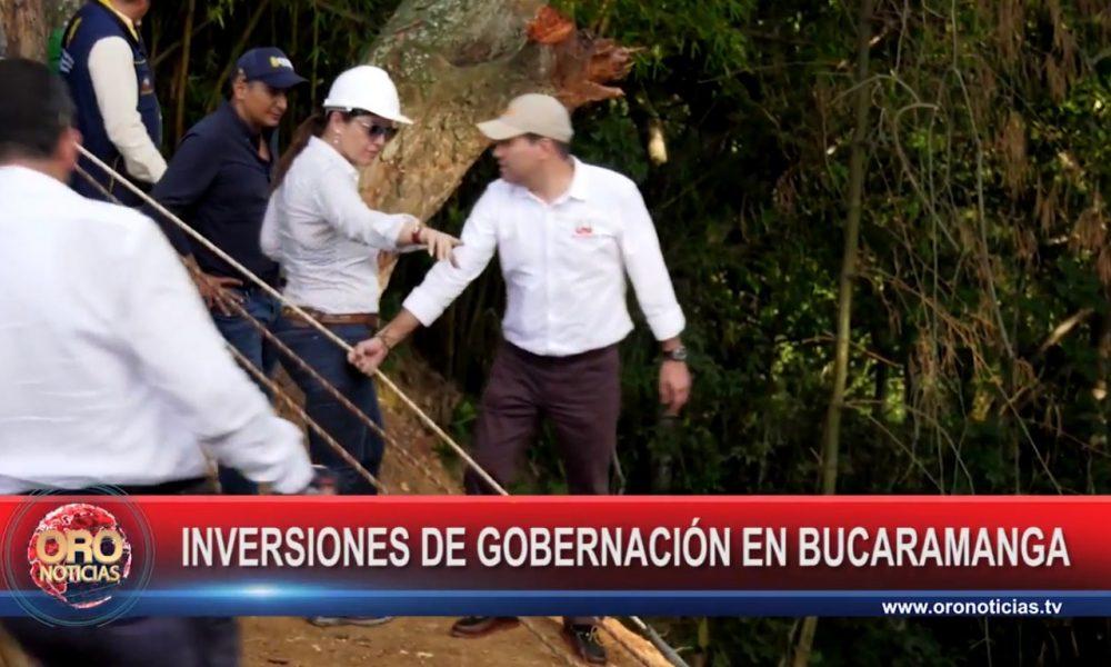 Gobernador de Santander visitó las obras que adelanta la Administración en Bucaramanga