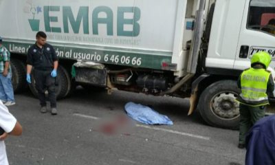 Un habitante de calle fue arrollado por un camión de basura