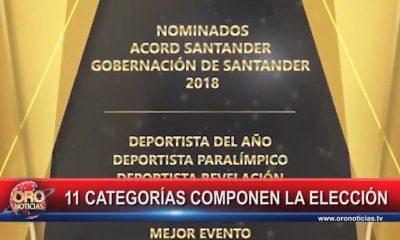 11 categorías premiará Acord Santander en la ceremonia Deportista del Año 2018
