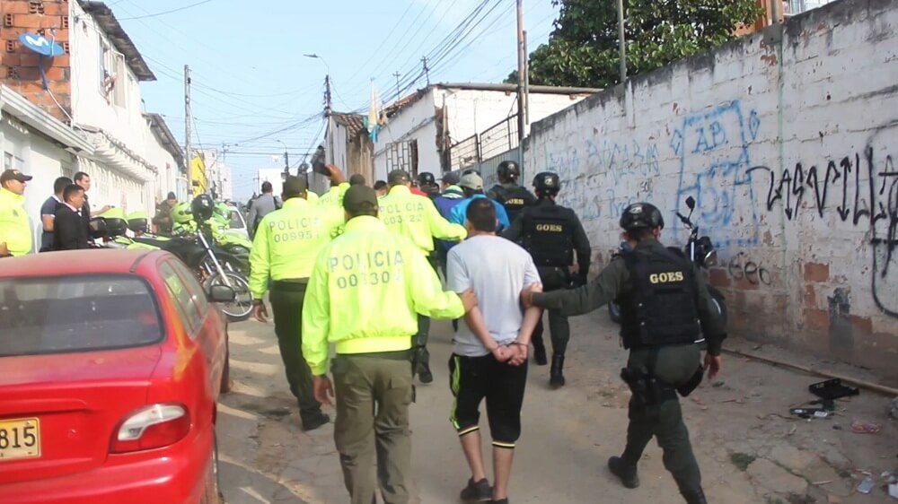 La Policía adelantó la operación Bellus contra el microtráfico en Floridablanca