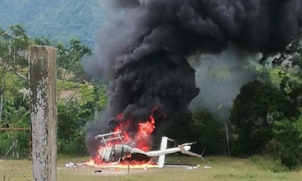 No hay pistas sobre el paradero de los tripulantes del helicóptero incinerado en Hacarí, N de S.