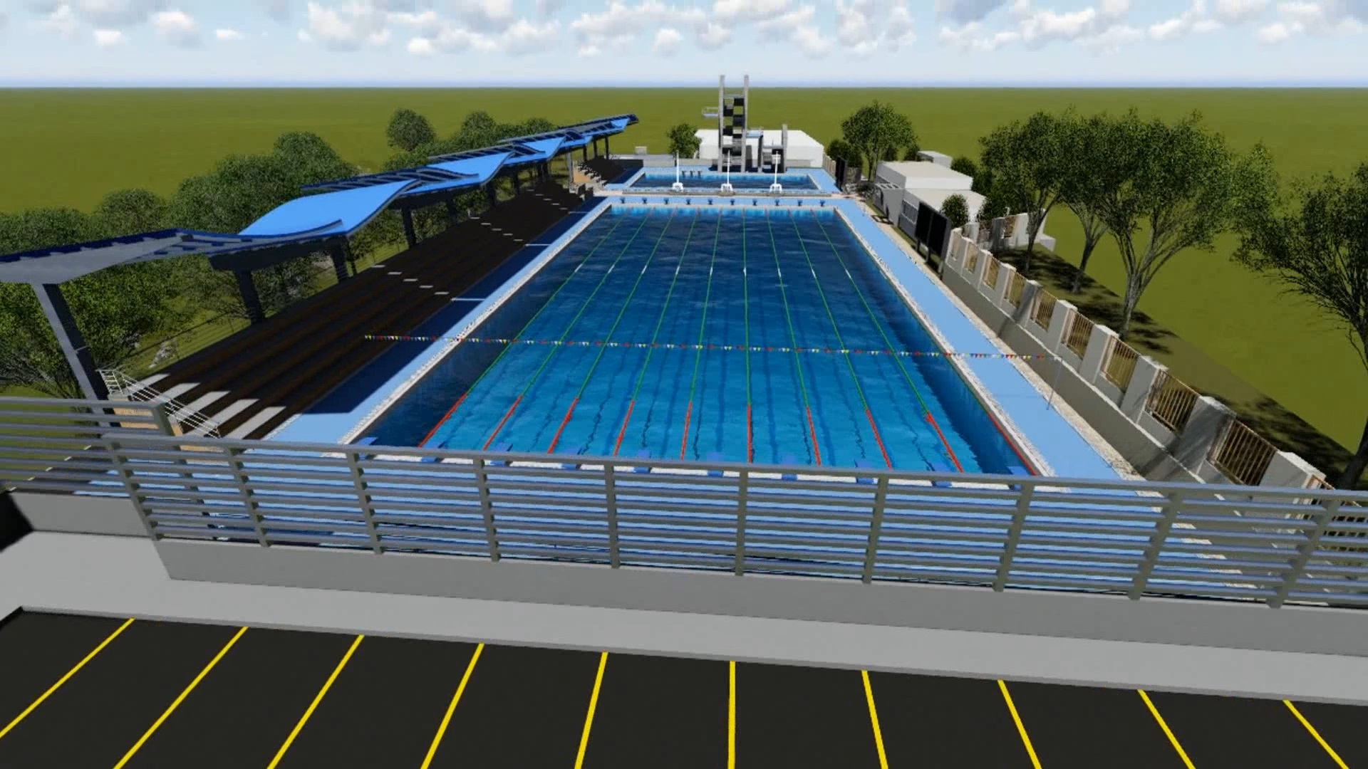 Hay preocupación e inquietud entre los nadadores santandereanos por el evidente retraso en las obras de construcción del complejo acuático de alto rendimiento, planificado en Piedecuesta.